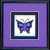 7x7 Purple Butterfly